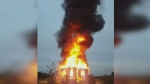 Peepeekisis church destroyed by fire
