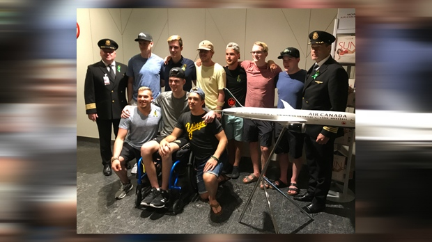 Several Humboldt Broncos Crash Survivors Reunite In