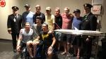 Humboldt Broncos teammates reunite in Calgary ahead of a flight to Las Vegas, Nevada, on Monday, June 18, 2018. (Rosa Hwang)