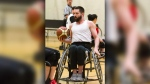 Undated photograph of wheelchair basketball player Dalten Campbell who has been reunited with his stolen chair (supplied)