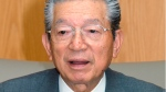 In this Aug. 2003, photo, then Casio Computer Co. President Kazuo Kashio speaks in an interview in Tokyo. (Kyodo News via AP)