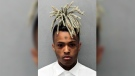 This undated mugshot released by the Miami- Dade Corrections & Rehabilitation Department shows rapper XXXTentacion. (Miami- Dade Corrections & Rehabilitation Department via AP)