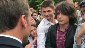 France's Macron admonishes teenager; video goes viral | CTV News