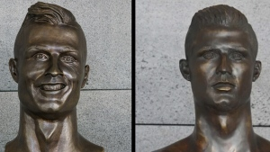 Where is hideous bust of Cristiano Ronaldo?