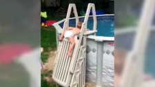 CTV News Channel: Tot climbs locked pool ladder