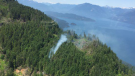 Wildfire near Harrison Hot Springs human-caused