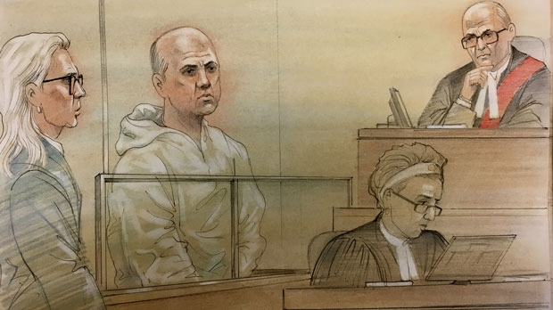 Suspect accused of first-degree murder in connection with TTC death appears in court on June 19, 2018. (John Mantra)