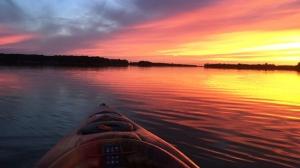 Kayak ride on Killarney Lake. Photo by Kristel Jamault.