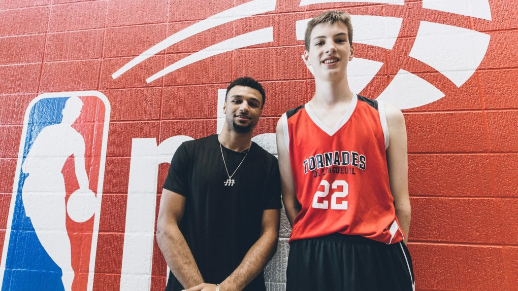 7382f3a6db71 Very tall Canadian 12-year-old catches the eyes of NBA players
