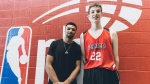 Denver Nuggets guard Jamal Murray, left, poses for a photo with Olivier Rioux, 12, in St. Catharines, Ont., in this recent handout photo.  (THE CANADIAN PRESS/HO - NBA)