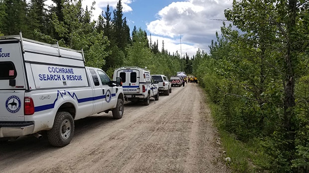 Cochrane RCMP with the assistance of Cochrane, Didsbury, Foothills, and Calgary Search and Rescue teams conducted a search for Coates on June 13 and 14, 2018. (Supplied)