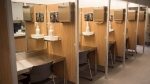 Injection booths are seen at the Cactus safe injection site Monday, June 26, 2017 in Montreal. THE CANADIAN PRESS/Paul Chiasson