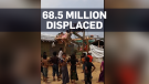 68.5 million people displaced in 2017: report
