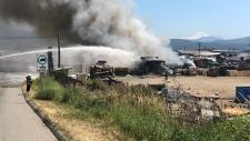 abbotsford auto recycling fire
