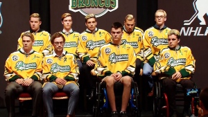 Members of Humboldt Broncos speak in Las Vegas