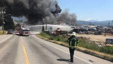 abbotsford auto wrecker fire