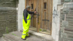 John Gamble cleans up graffiti for a living and says he's seen this tag around the city before.