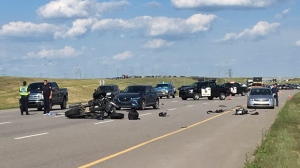 Motorcyclist in critical condition following crash on Stoney Trail | CTV News