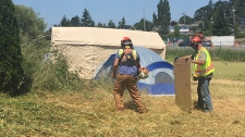 fire inspector saanich tent city