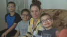 Amanda Hopkinson is struggling to make ends meet for her five children in Regina