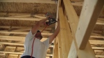 Framing a new home in southeast Calgary
