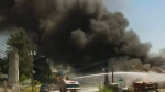 Massive fire prompts air quality concerns