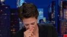 Rachel Maddow breaks down while reading an Associated Press story on tender age shelters on Tues., June 19.