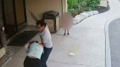 Warning: Surveillance shows man assaulting woman
