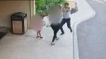 Warning: Surveillance shows man assaulting woman