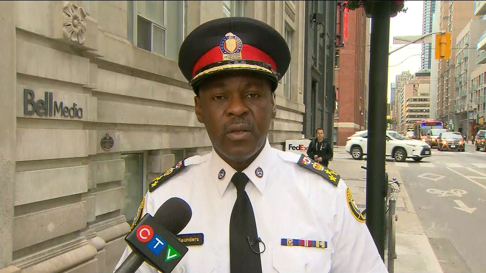 Toronto Police Chief Mark Saunders speaks with CP24 for an interview Wednesday June 20, 2018.