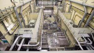 Reactor number 3 at the Darlington nuclear facility in Courtice, Ont., on October 30, 2014. (THE CANADIAN PRESS/Frank Gunn)