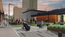 An artists drawing of the proposed Freedom Way Link for the University of Windsor (photo supplied)