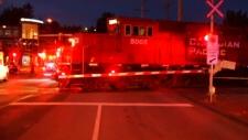 Pedestrian struck by train in Abbotsford