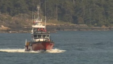 Search and rescue crews were back in Becher Bay Wednesday looking for any sign of a missing 56-year-old kayaker. June 20, 2018. (CTV Vancouver Island)