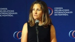 Minister Freeland speaks in Montreal