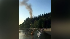 Public warned after fire near Wreck Beach
