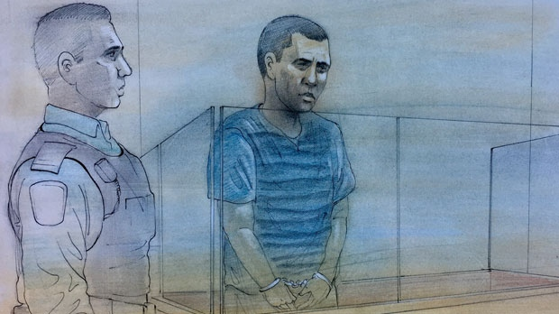 Anirudha Nayagam is seen appearing in court in Brampton on Wednesday. (John Mantha)