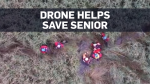 Drone used to find a senior who got lost in marsh
