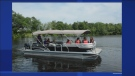 The pontoon boat - worth upwards of $85,000 - was specially adapted for children with special needs. The boat was taken from behind the foundation's Dorval office on Thursday night. (Photo courtesy of Starlight Foundation)