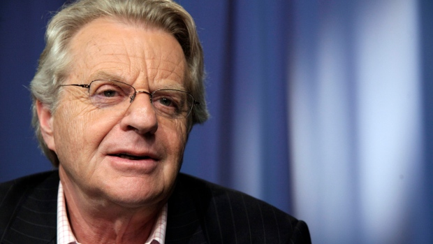 FILE - This April 15, 2010 file photo shows talk show host Jerry Springer in New York. (AP Photo/Richard Drew, File)