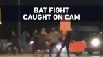 Caught on cam: Bat fight over 'debt' in Ontario