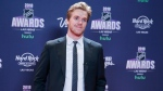 Connor McDavid of the Edmonton Oilers poses on the red carpet before the NHL Awards, Wednesday, June 20, 2018, in Las Vegas. (AP Photo/John Locher)