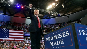 FILE - U.S. President Donald Trump speaks at a rally at AMSOIL Arena in Duluth, Minn., Wednesday, June 20, 2018. (AP Photo/Susan Walsh)