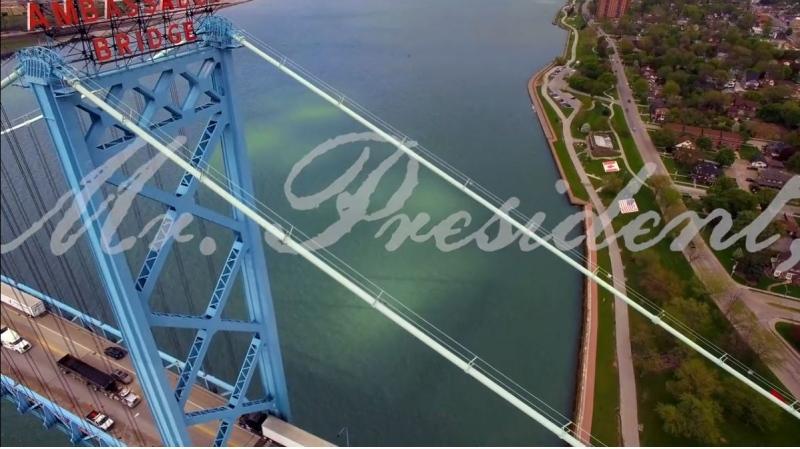 The Ambassador Bridge Company launches a TV ad aimed at U.S. President Donald Trump. (Courtesy  Ambassador Bridge Company)