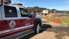 Firefighters were called to a fire in the townhouse complex under construction late Wednesday, June 20, 2018.