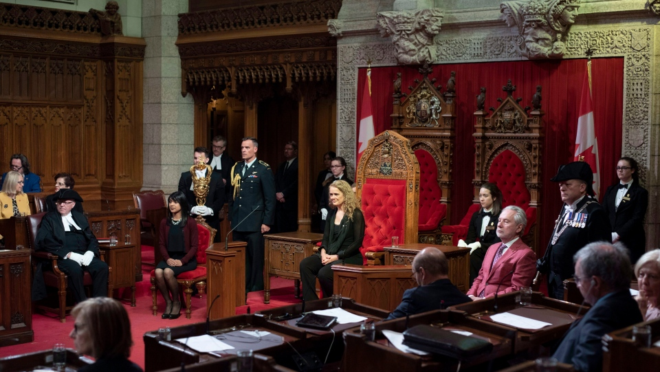 Governor General Julie Payette participates in a Royal Assent ceremony in the Senate on Parliament Hill in Ottawa on Thursday, June 21, 2018. Among the bills receiving Royal Assent is Bill C-45, the Cannabis Act. THE CANADIAN PRESS/Justin Tang