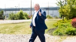 Ontario premier-designate Doug Ford leaves after announcing his commitment to keeping the Pickering Nuclear Generating Station in operation until 2024 in Pickering, Ont., on Thursday, June 21, 2018. THE CANADIAN PRESS/Nathan Denette