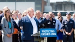 Ontario premier-designate Doug Ford announces his commitment to keeping the Pickering Nuclear Generating Station in operation until 2024 in Pickering, Ont., on Thursday, June 21, 2018. (THE CANADIAN PRESS/Nathan Denette)