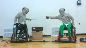 Wheelchair fencer setting sights on Paralympics