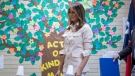 U.S. first lady Melania Trump visits the Upbring New Hope Children Center run by the Lutheran Social Services of the South in McAllen, Texas, Thursday, June 21, 2018. (AP / Andrew Harnik)